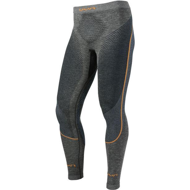 UYN Ambityon Melange UW Long Pants Herren black melange/atlantic/orange shiny
