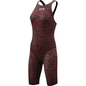 TYR Thresher Baja Open Back Swimsuit Damen red red