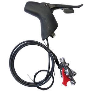 SRAM Red 22 Hydraulische Scheibenbremse Hinten mit 11-fach Schalthebel Flat Mount black black