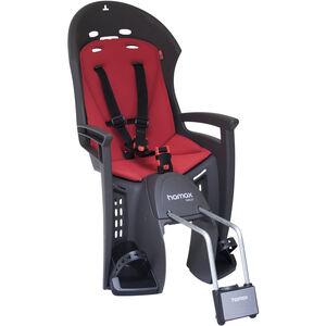 Hamax Smiley Bike Seat with Lockable Bracket black/red black/red