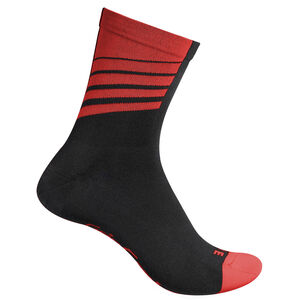 GripGrab Racing Stripes Socks black/red black/red