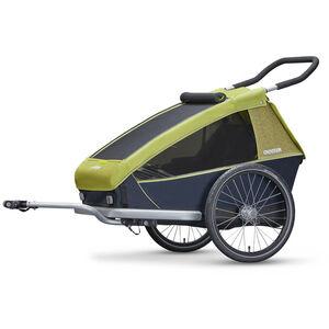 Croozer Kid for 2 Fahrradanhänger lemon green bei fahrrad.de Online