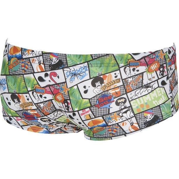 arena Summer Comics Low Waist Shorts Herren shiny green-multi