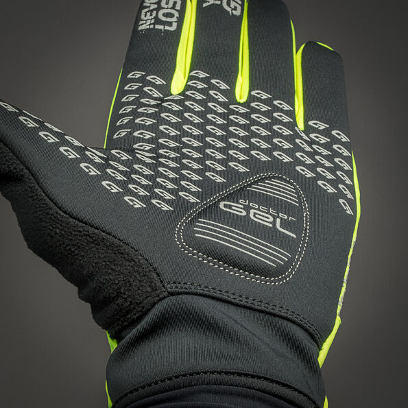 GripGrab Ride Hi-Vis Windproof Midseason Gloves fluo yellow