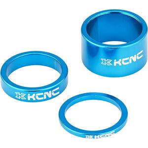 "KCNC Headset Spacer 1 1/8"" 3/8/20mm blau"