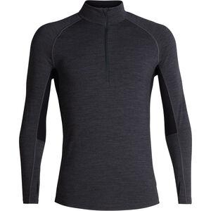 Icebreaker 200 Zone LS Half-Zip Shirt jet heather/black