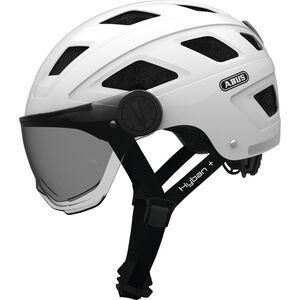 ABUS Hyban+ Helmet white, smoke visor white, smoke visor