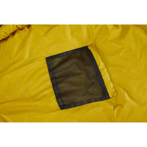 Nordisk Puk +4° Egg Sleeping Bag L true navy/mustard yellow/black