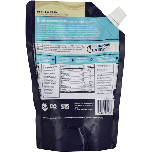 GU Energy Gel Vorratsbeutel 480g Vanilla Bean