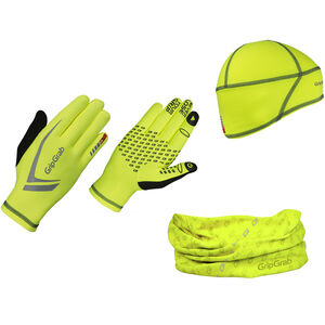 GripGrab Hi-Vis Running Essentials Multipack fluo yellow fluo yellow