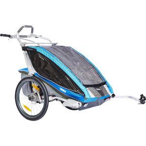 Thule Chariot CX2 + Fahrradset Blau