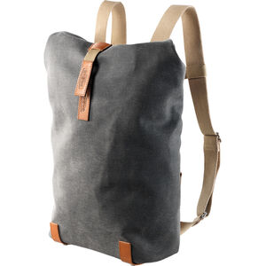 Brooks Pickwick Canvas Rucksack Small grey grey