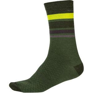 Endura BaaBaa Merino Stripe Socken Herren green green