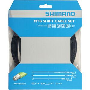 Shimano MTB Optislick Schaltkabel Set schwarz schwarz