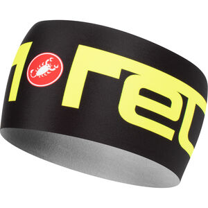 Castelli Viva 2 Thermo Stirnband black/yellow fluo black/yellow fluo