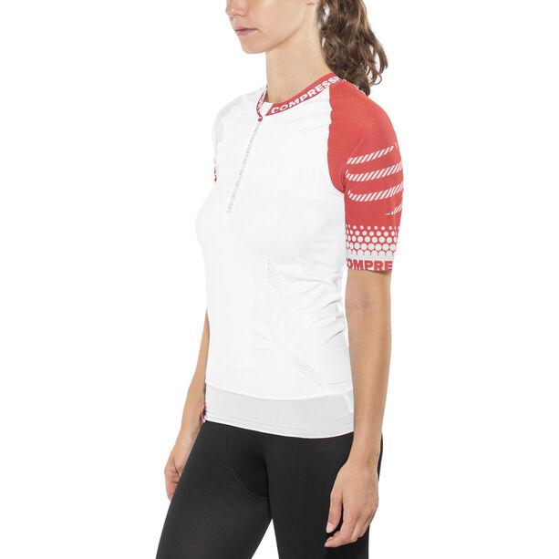 Compressport Trail Running SS Shirt white