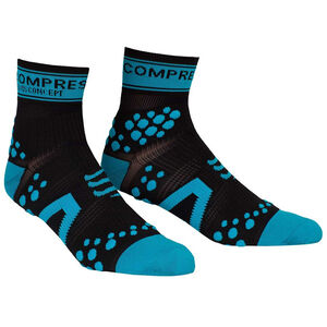 Compressport Racing V2 Run High Socks black/blue black/blue