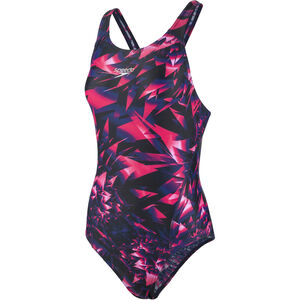 speedo SparkelGlow Allover Recordbreaker Swimsuit Damen black/pink black/pink