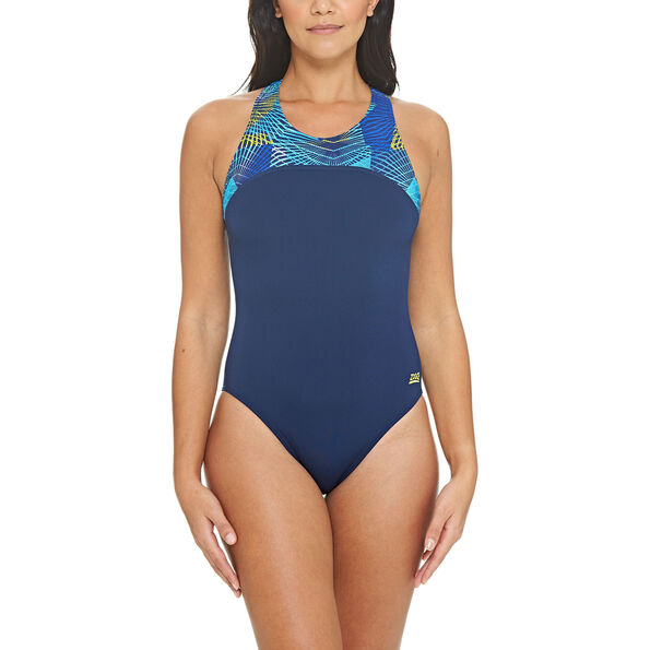 Zoggs Spiro Zippedback Swimsuit Damen