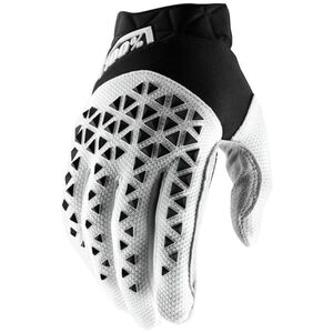 100% Airmatic Gloves black/white/silver black/white/silver