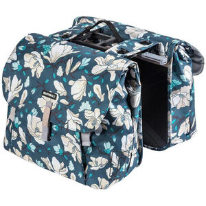 Basil Magnolia Double Pannier Bag 35l, with MIK adapter plate teal blue teal blue