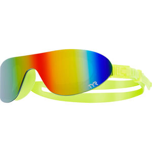 TYR Swimshades Mirrored Goggles rainbow/flou yellow rainbow/flou yellow