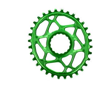 absoluteBLACK Ovales Kettenblatt Spiderless Boost148 für Race Face Cinch froggy green froggy green
