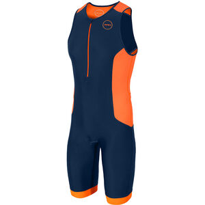 Zone3 Aquaflo Plus Trisuit Herren french/navy/grey/neon orange french/navy/grey/neon orange