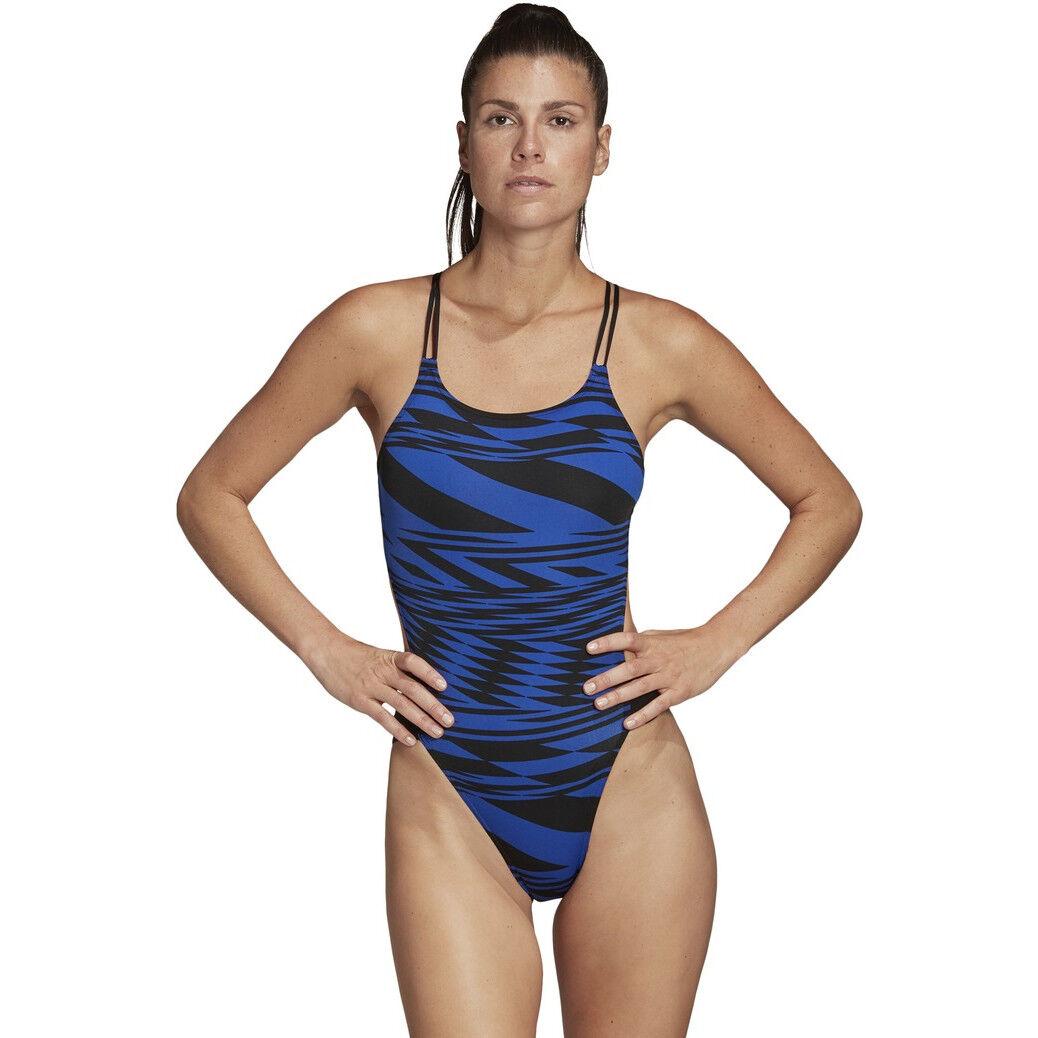 Neue Adidas 3 Stripes Navy Badeanzug Damen Online
