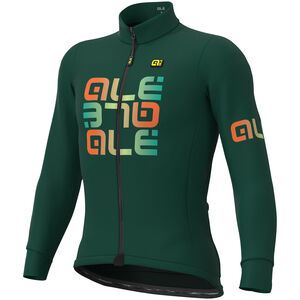 Alé Cycling Solid Mirror Winter Trikot Herren green green