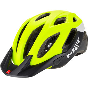 MET Crossover Helm safety yellow/white/black safety yellow/white/black