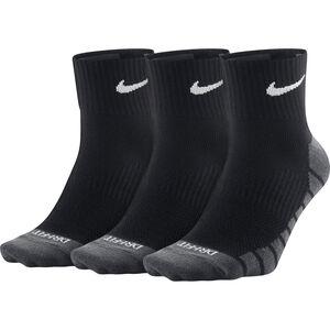 Nike Dry Lightweight Quarter Training Socks 3 Pair black/white bei fahrrad.de Online