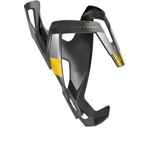 Elite Vico Flaschenhalter Carbon schwarz matt/gelbe grafik schwarz matt/gelbe grafik