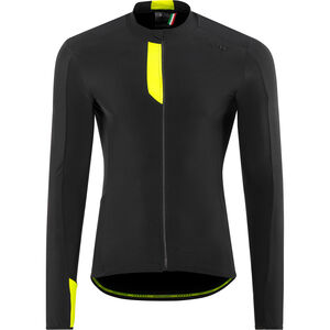 Northwave Fahrenheit Longsleeve Jersey Herren black/yellowfluo black/yellowfluo
