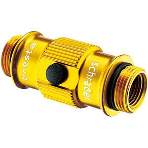 Lezyne ABS Flip-Thread Chuck HP für Swivel/Micro Floor/Standpumpen gold-glänzend gold-glänzend
