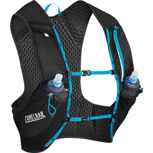 CamelBak Nano 17 Trinkrucksack Weste with Quick Stow Flask black/atomic blue black/atomic blue
