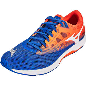 Mizuno Wave Sonic 2 Shoes Men Reflex Blue/White/Nasturtium bei fahrrad.de Online