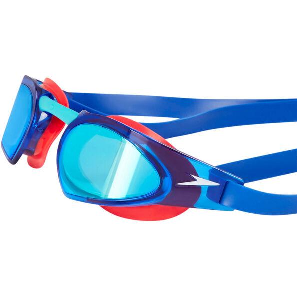 speedo Fastskin Prime Mirror Goggles psycho red/bali blu/blu mirror
