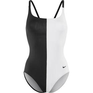 Nike Swim Color Surge V-Back One Piece Damen black black