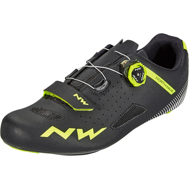 Northwave Core Plus Shoes Herren black/yellow fluo