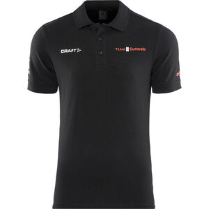 Craft Team Sunweb Pique Polo Shirt Herren black black