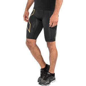 2XU MCS Run Compression Shorts Men black/gold reflective bei fahrrad.de Online