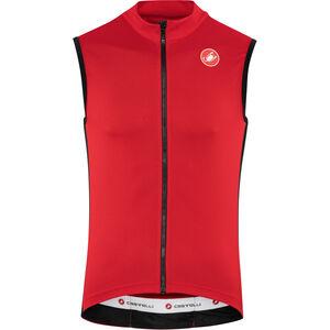Castelli Entrata 3 FZ Sleeveless Jersey Herren red red
