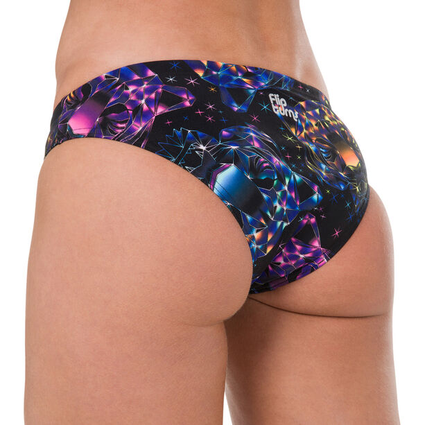 speedo Diamondize 2 Piece Crossback Bikini Damen black/bubblegumpink/postitpink