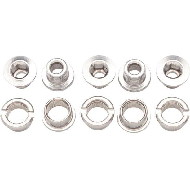 Problem Solvers Kettenblatt-Schrauben 6mm 1-fach 5 Stück silver
