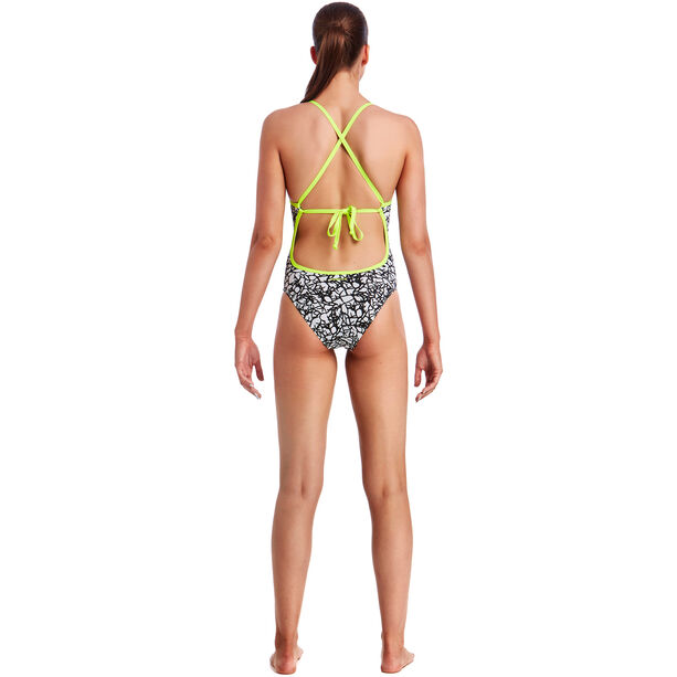 Funkita Tie Me Tight One Piece Swimsuit Damen bleached coral