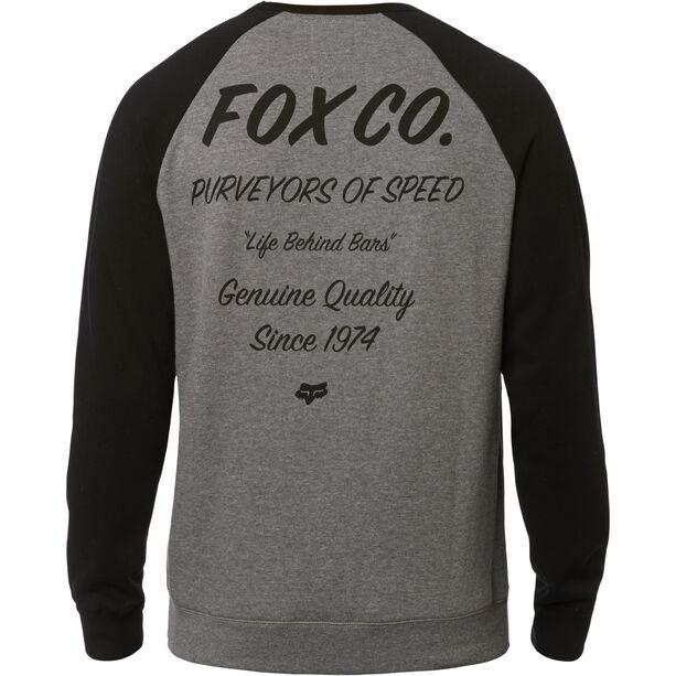 Fox Resin Crew Neck Fleece Pullover Herren heather graphite
