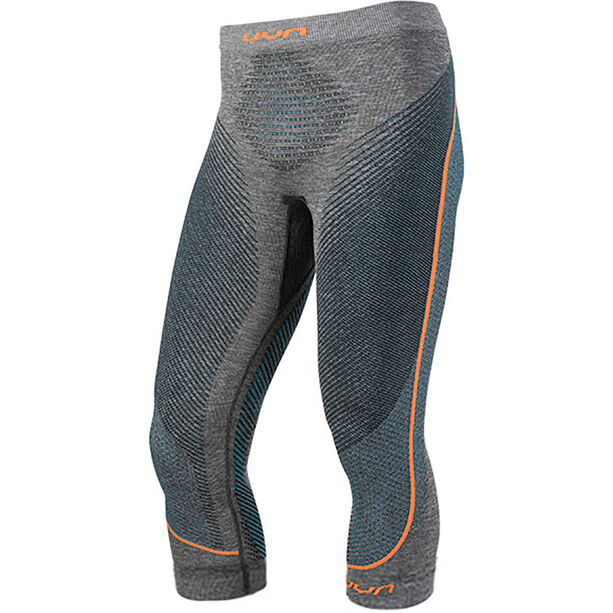 UYN Ambityon Melange UW Medium Pants Herren black melange/atlantic/orange shiny