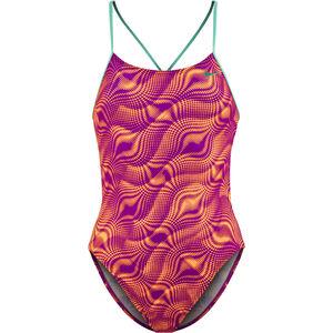 Nike Swim Wave Cut-Out Tank Swimsuit Girls Vivid Purple