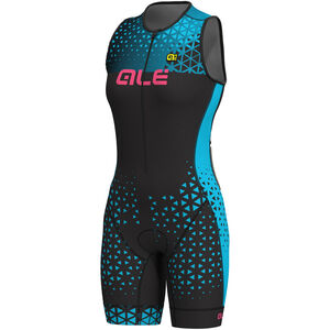 Alé Cycling Triathlon Rush Sleeveless Unitard Long Damen black-light blue black-light blue